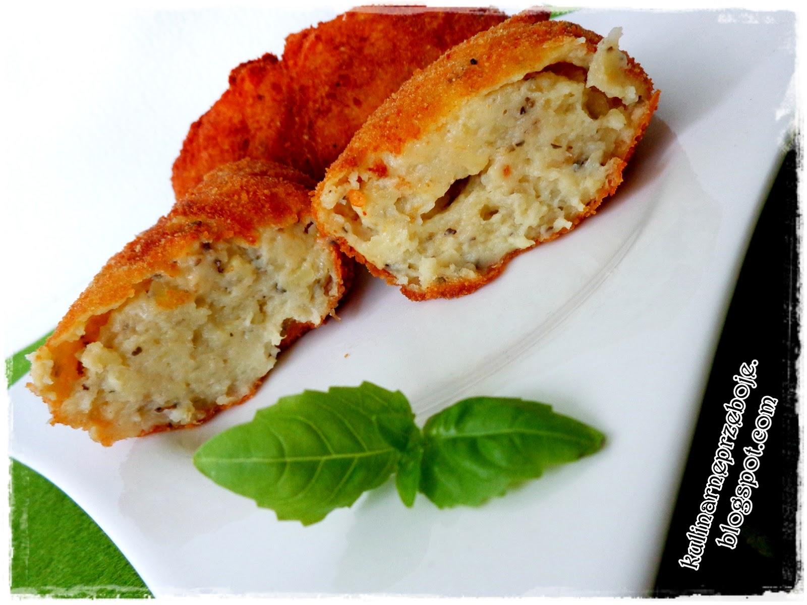 Krokiety ziemniaczane z bazylią i oregano / Kartoffelkroketten mit Basilikum und Oregano
