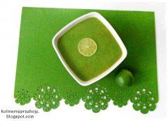 Zupa brokułowa (SZYBKA zupa krem z brokułów) z limonką