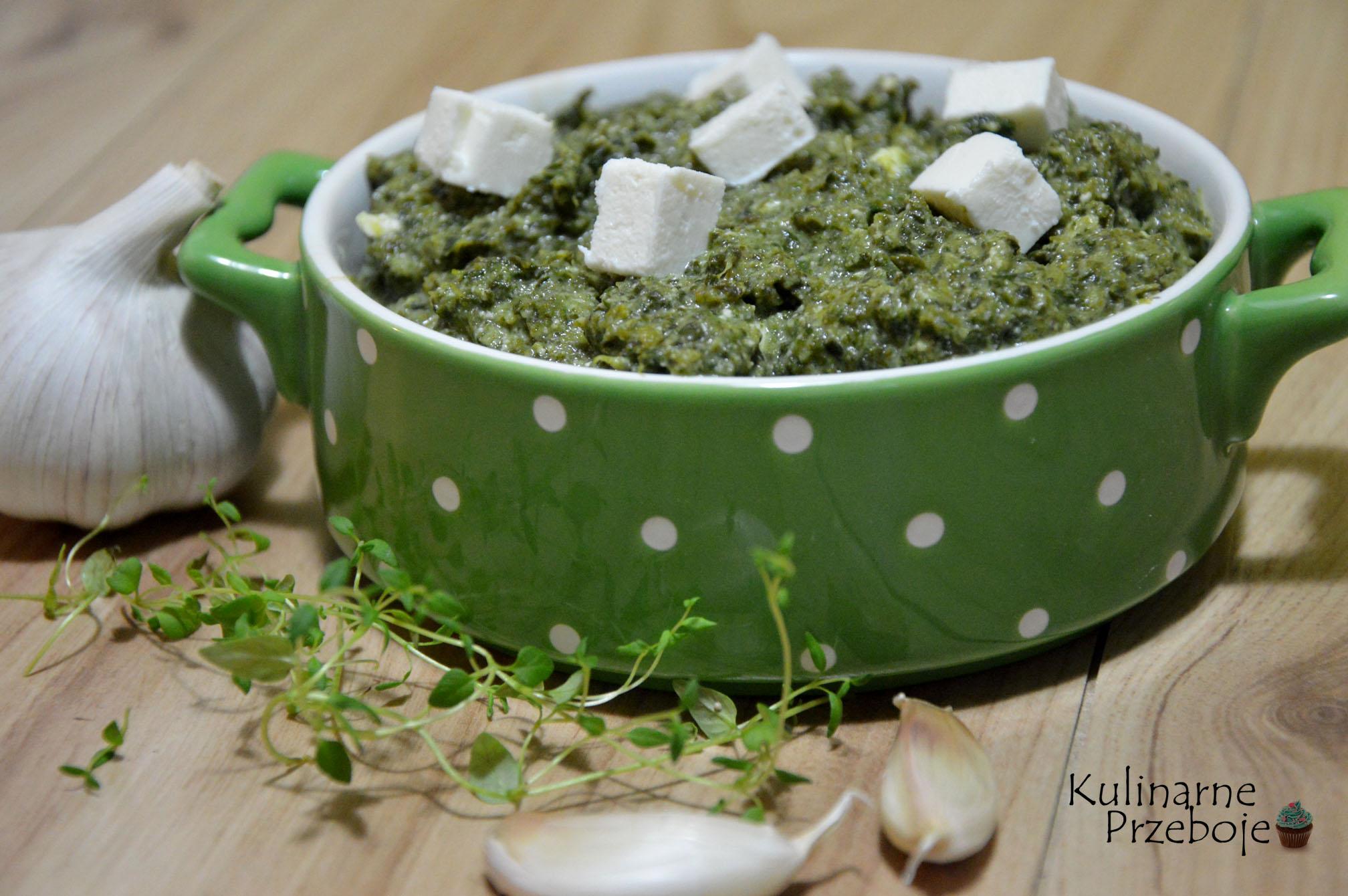Zielony farsz szpinakowy z fetą