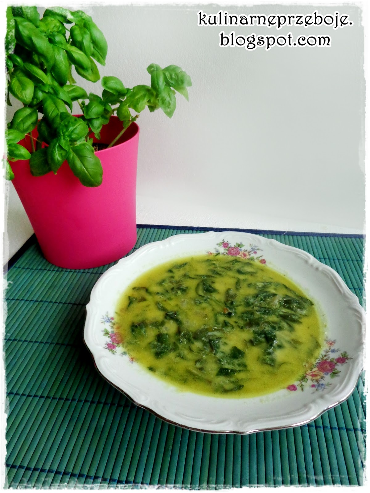 Szybka zupa szpinakowa