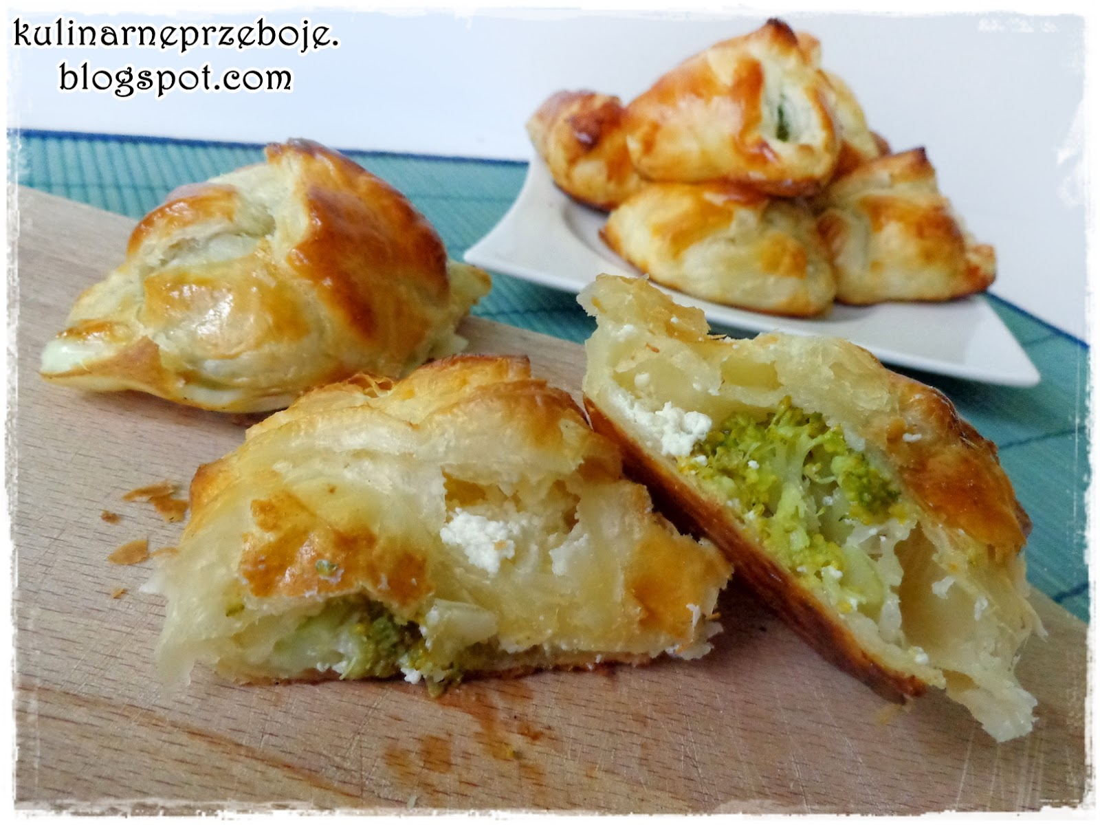 Kieszonki francuskie z brokułami i fetą