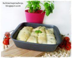 Naleśniki z pieczarkami zapiekane z serem