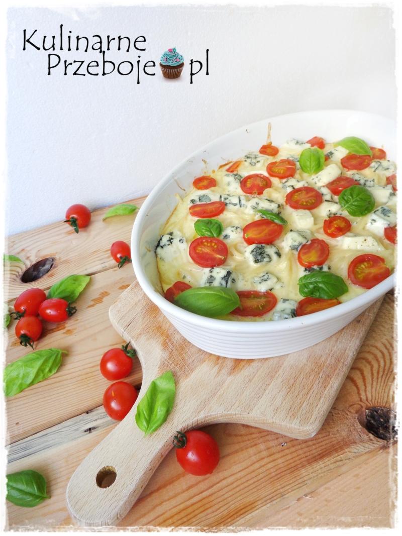 Szybka i pyszna zapiekanka z serem pleśniowym i makaronem