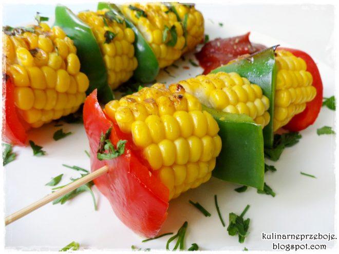 Szaszłyki Z Papryką I Kukurydzą Kulinarneprzebojepl