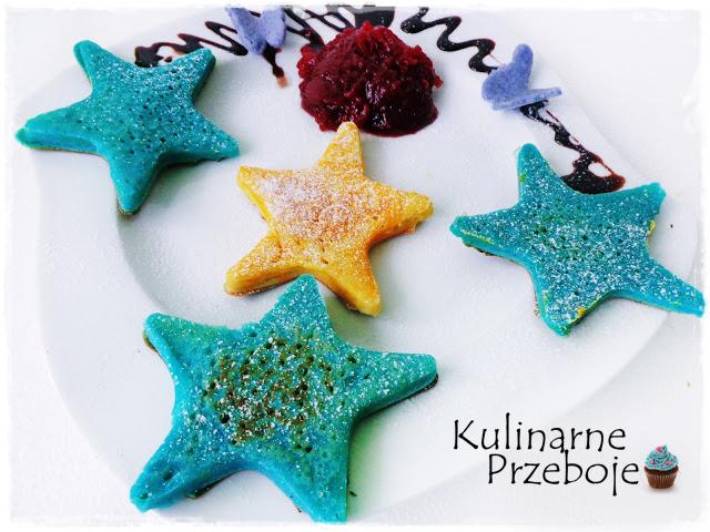 Dania dla dzieci: Kolorowe naleśniki w kształcie gwiazdek
