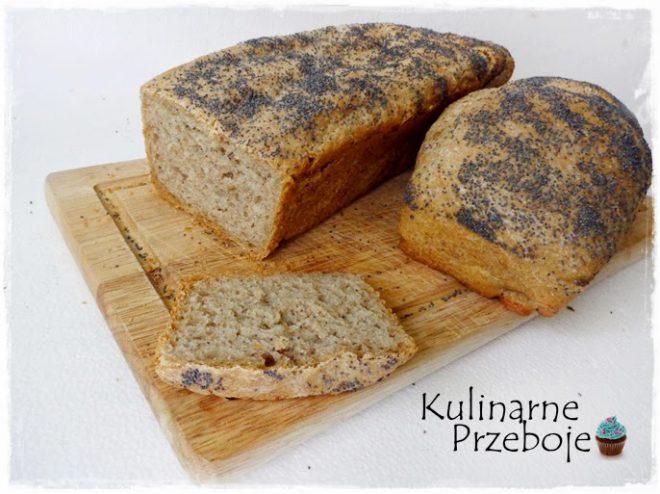 Chleb pszenno - żytni z makiem (na drożdżach)