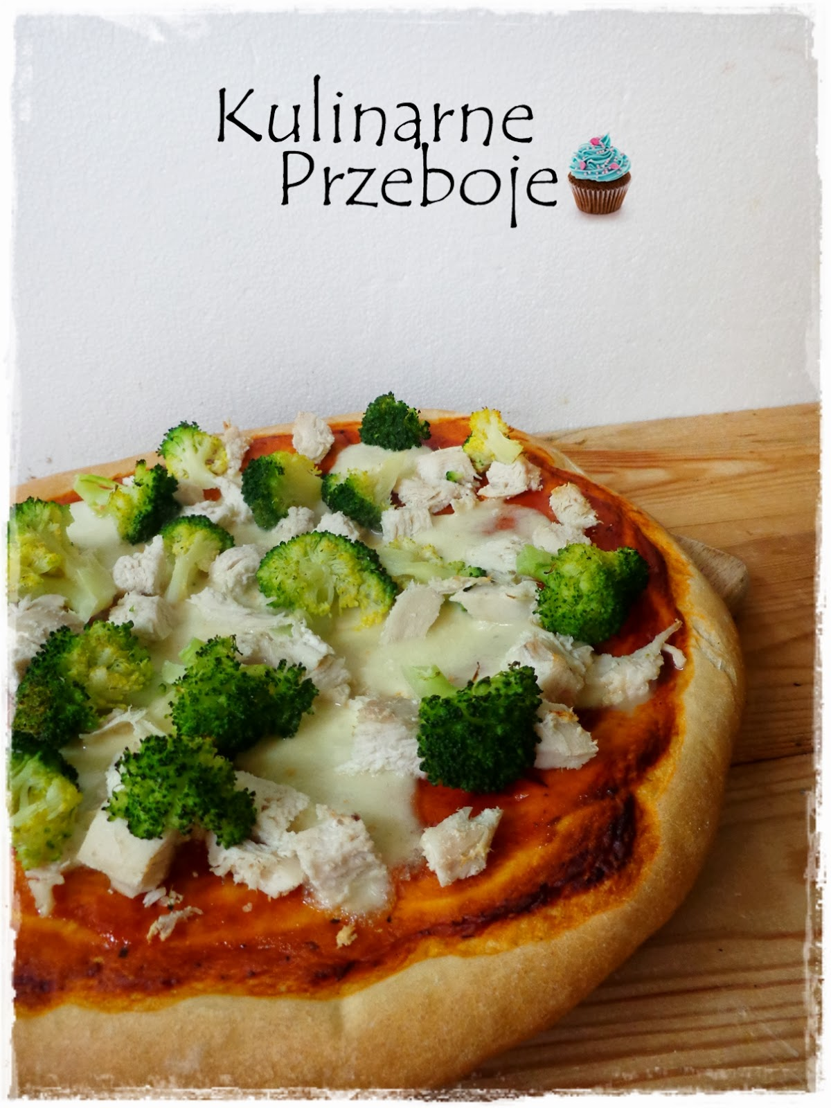 Pizza pollo con broccoli