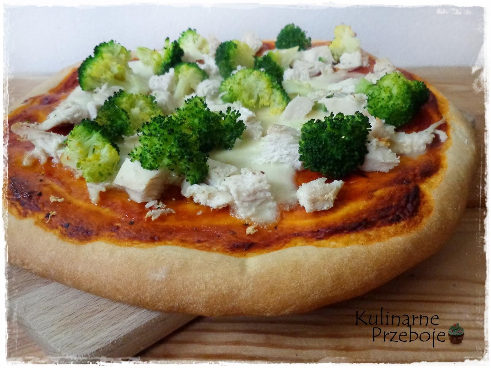 Pizza pollo con broccoli