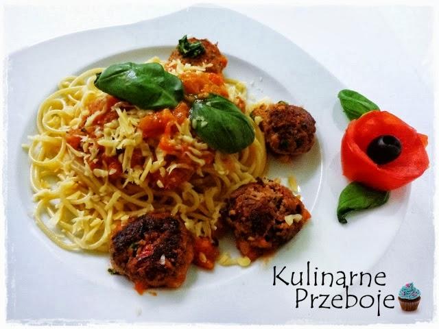 Spaghetti z soczystymi pulpecikami wg Okrasy