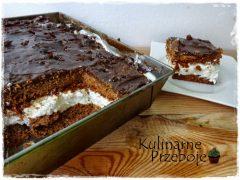 Ciasto z karmelem i śmietaną kremówką