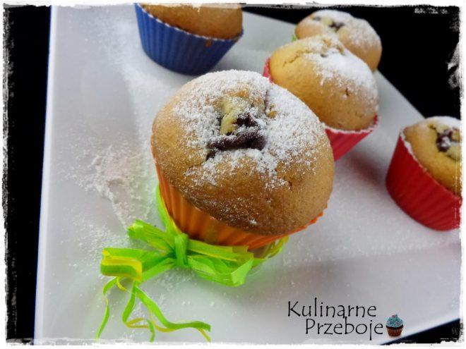 Muffinki (babeczki) z budyniem czekoladowym