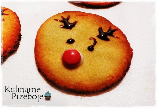 Świąteczne ciasteczka renifery