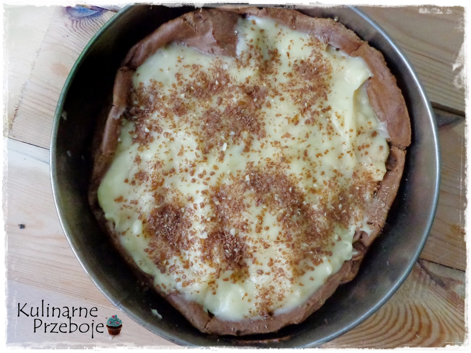 Karpatka czekoladowa z kremem waniliowym