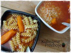 Zupa pomidorowa z makaronem lub ryżem