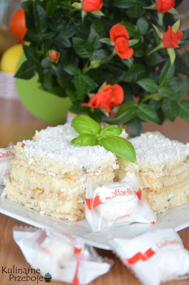 Pyszne ciasto Raffaello bez pieczenia