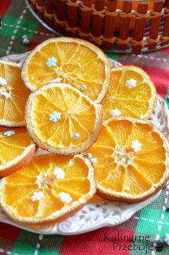 Ozdoba na choinkę, suszone pomarańcze
