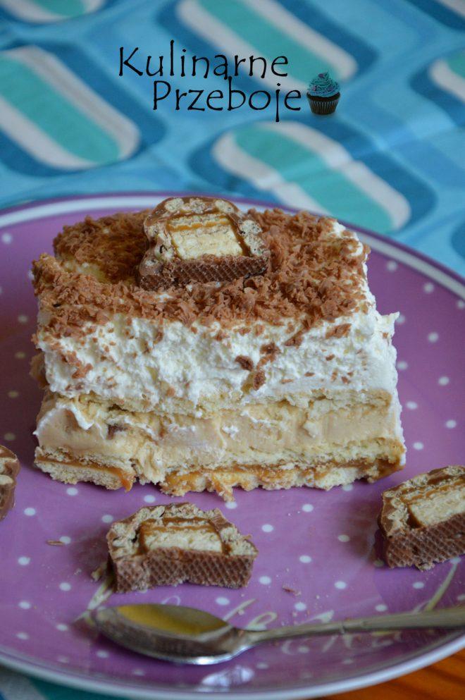 Szybkie ciasto Lion na herbatnikach bez piekarnika