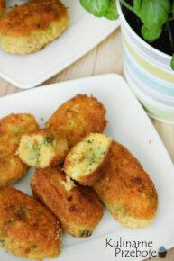 Krokiety ziemniaczane z brokułami