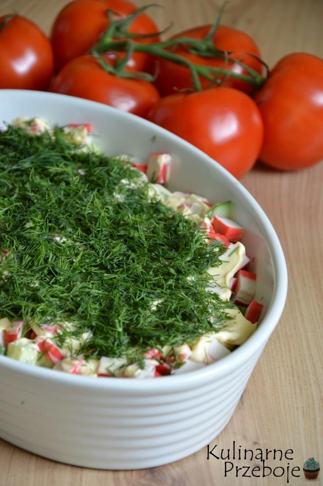 Salatka Z Surimi I Makaronem Chinskim Kulinarneprzeboje Pl