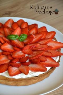 tarta z truskawkami i mascarpone