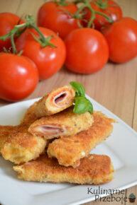 Krokiety z chleba tostowego z szynką i serem