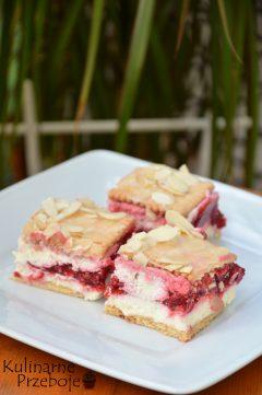 Ciasto bez piekarnika z herbatnikami, malinami i białą czekoladą. Malinowa rozkosz