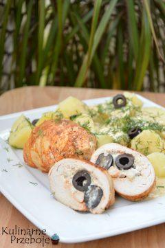 soczyste roladki z piersi kurczaka z oliwkami