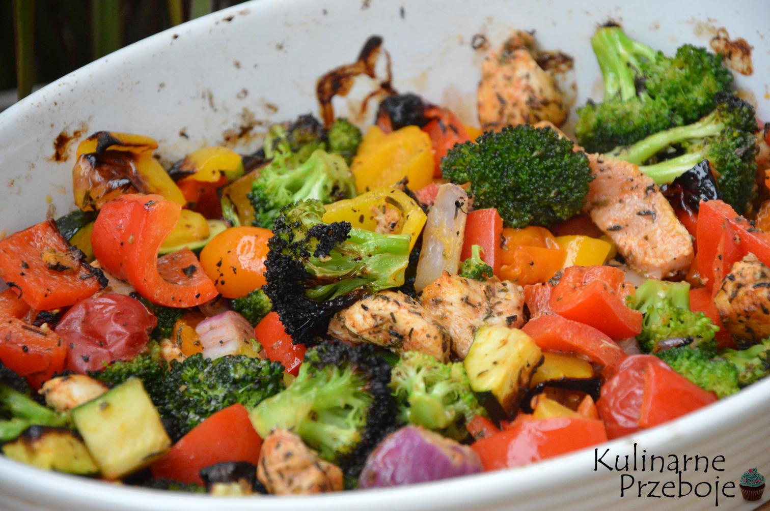 pieczone piersi kurczaka z warzywami