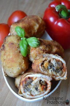 Schabowe roladki z farszem z pieczarek i sera propozycja na obiad