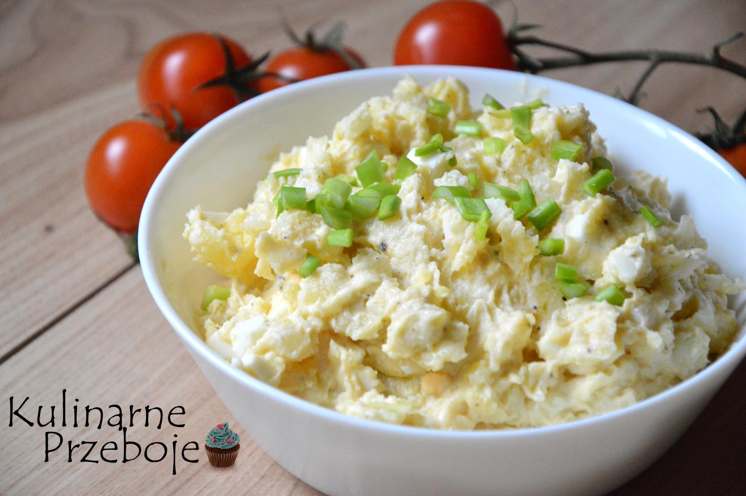 Sałatka po Żydowsku z majonezem i jajkami
