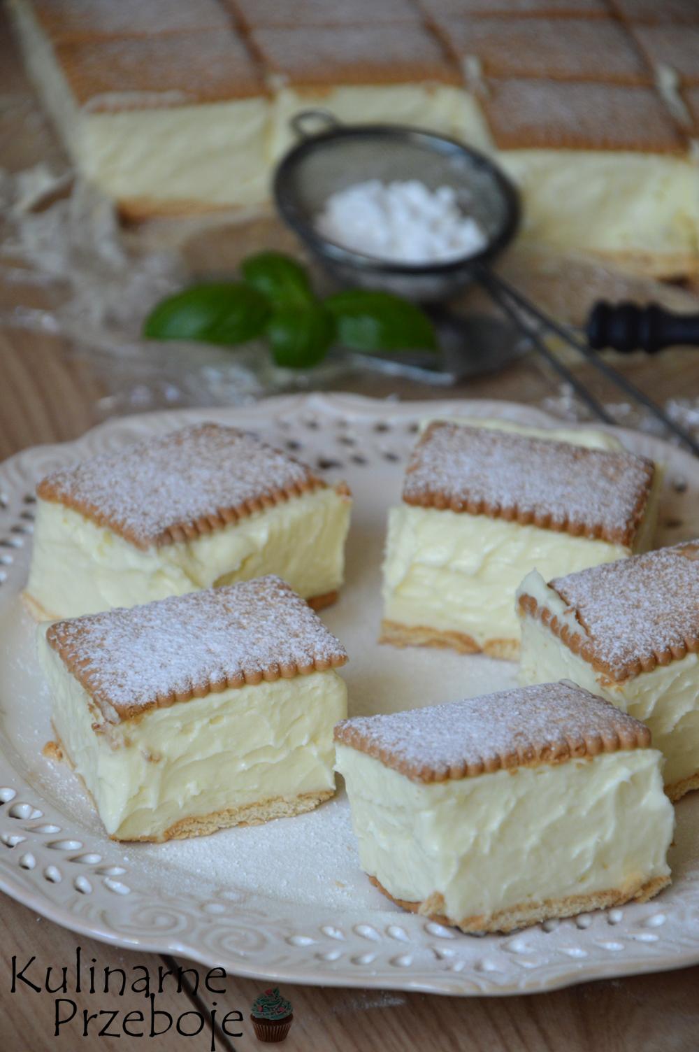 ciasto bez pieczenia, napoleonka z herbatnikami