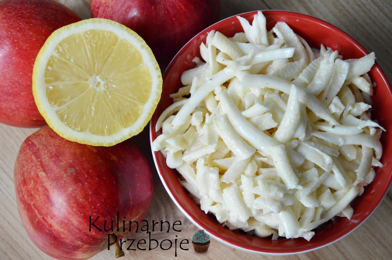 Szybka surówka z jabłkiem i selerem