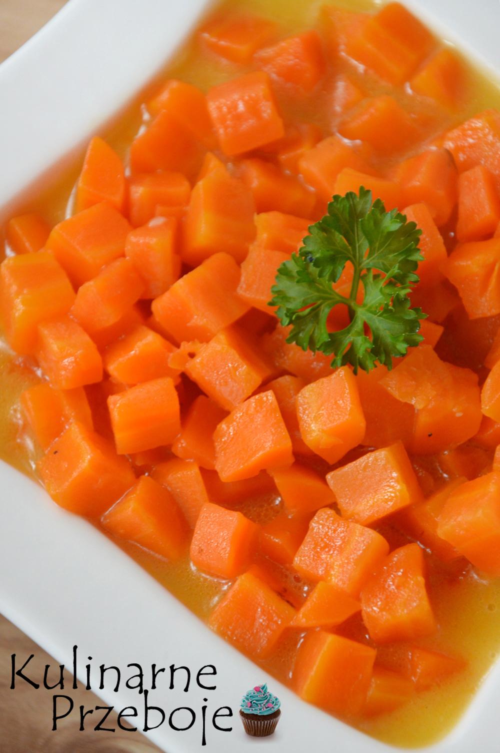 Gotowana marchewka - zdjęcie z bliska
