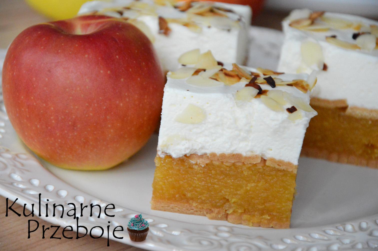 Ciasto z jabłkami bez pieczenia na herbatnikach
