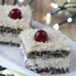 Pyszne kawałki ciasta makowa panienka