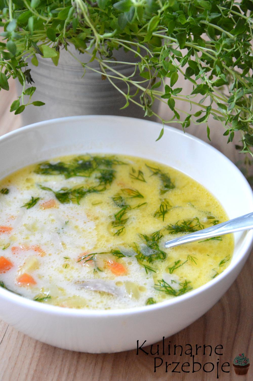 Przepyszna zupa ogórkowa na żeberkach wieprzowych