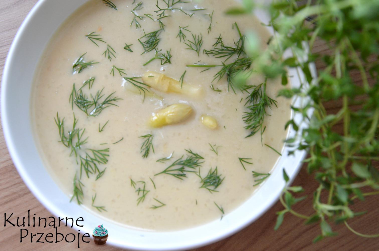 Zupa szparagowa. Krem z białych szparagów.