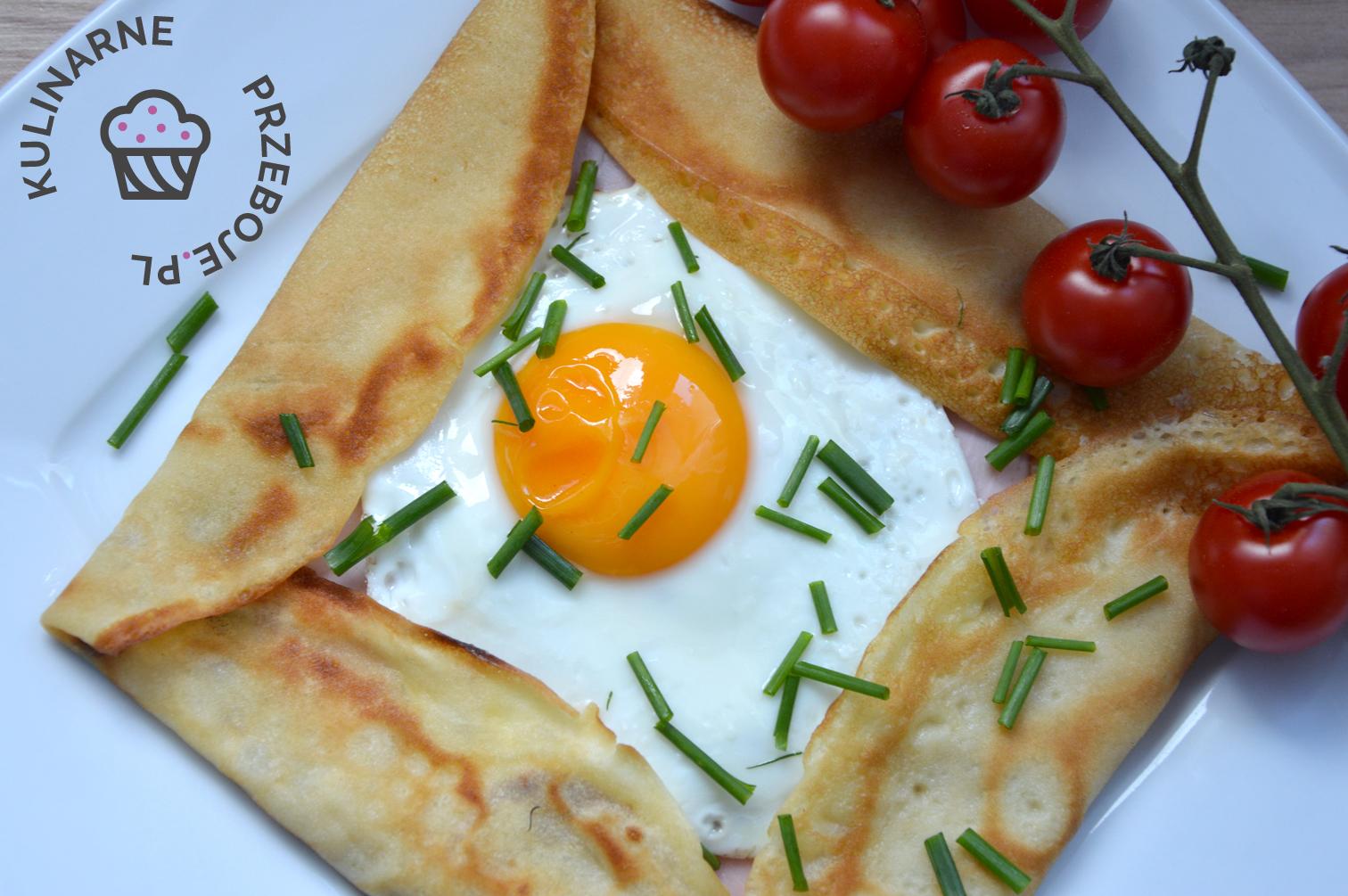 Jajko sadzone w kieszonkach naleśnikowych