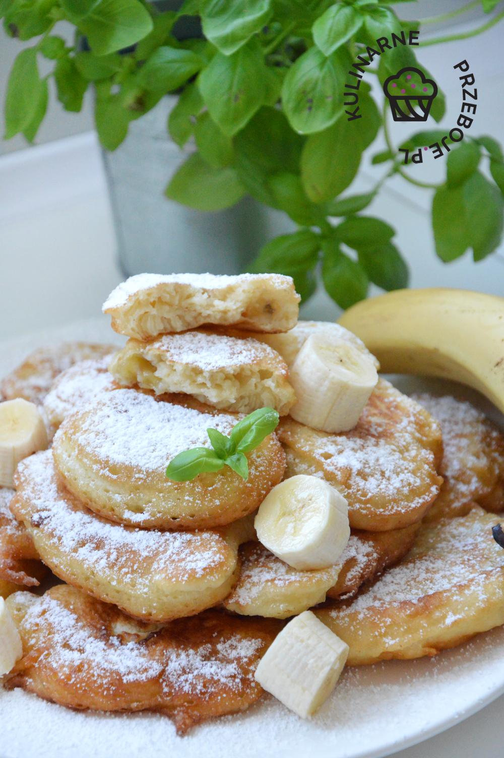 Racuchy z bananami na maślance