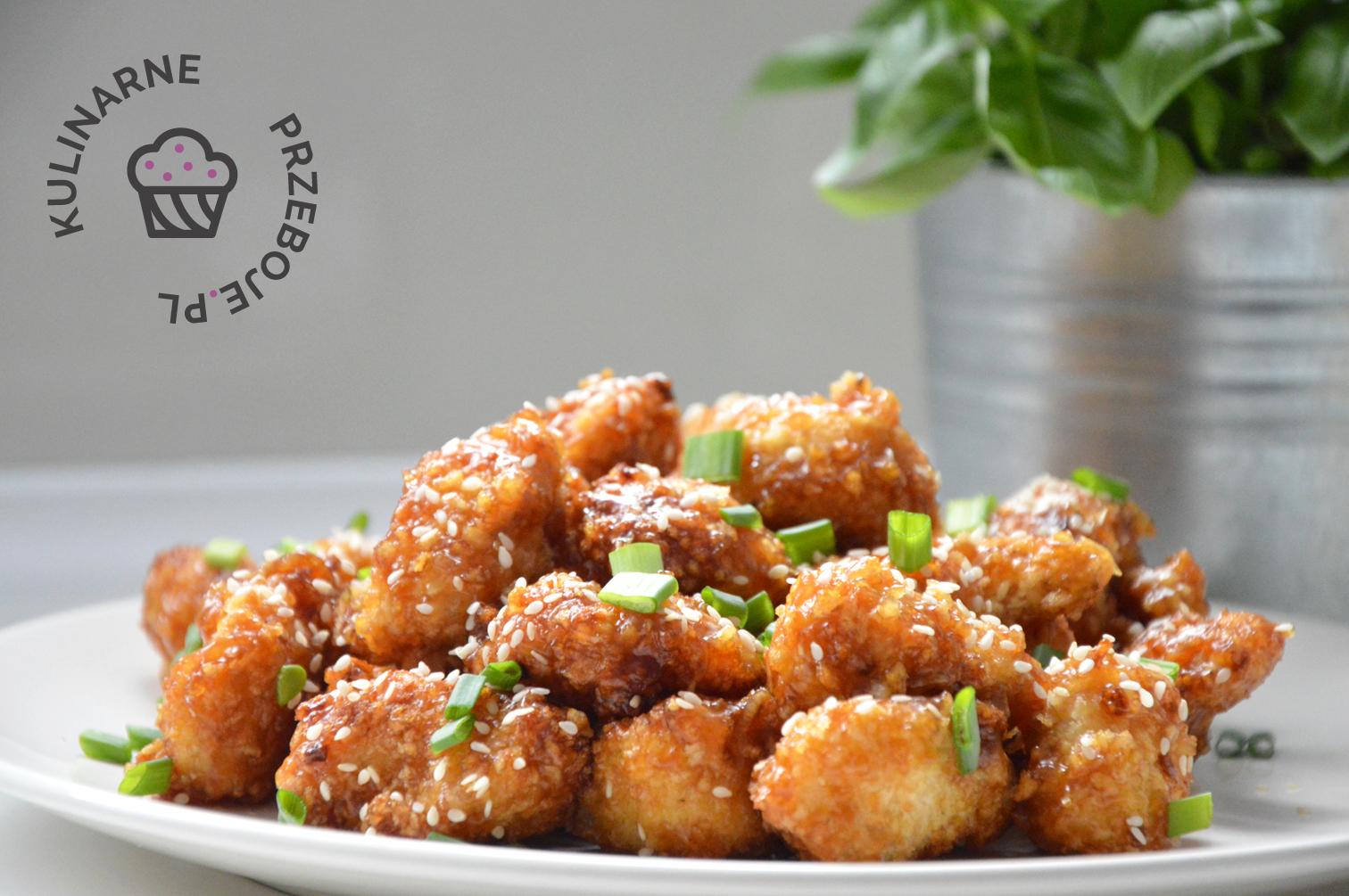 Kawałki kurczaka czosnkowo-miodowe