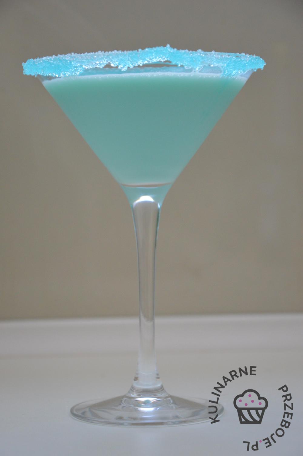 Drink Smerfne Malibu z mlekiem skondensowanym