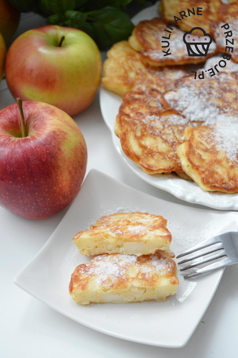 placuszki serowe z jabłkami dla dzieci