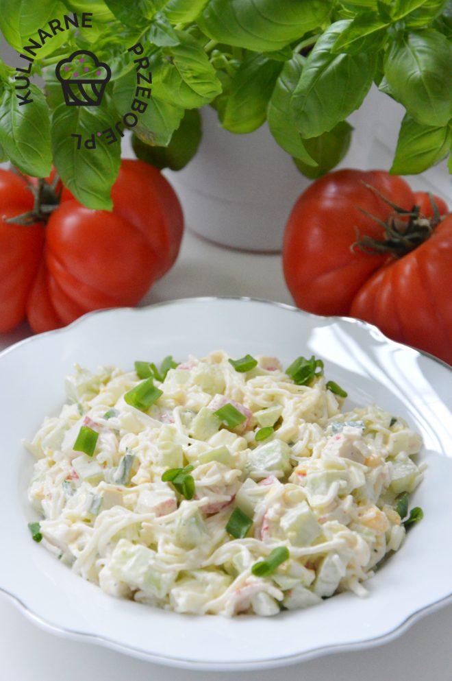 Salatka Z Surimi I Jajkiem Kulinarneprzeboje Pl