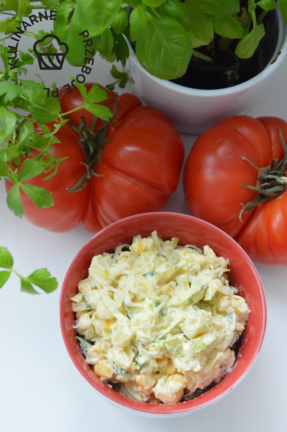 sałatka z ziemniaków i pora