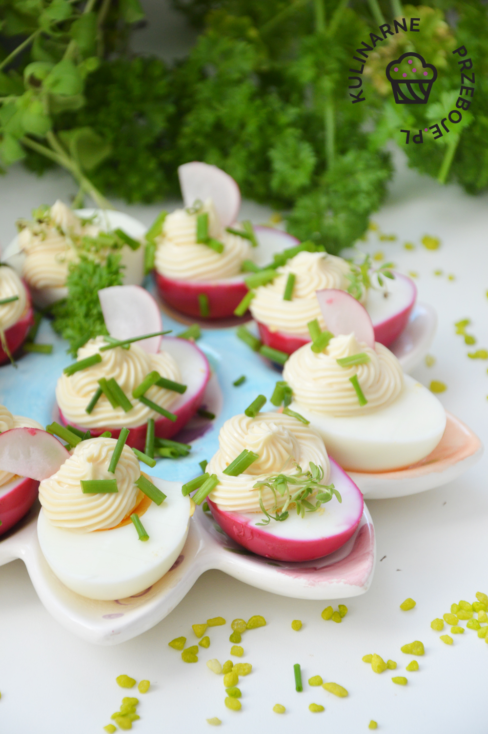 jajka w majonezie z rzeżuchą