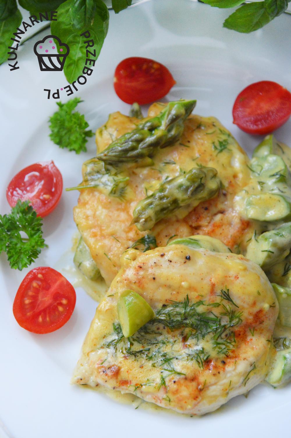 kurczak szparagi zielone