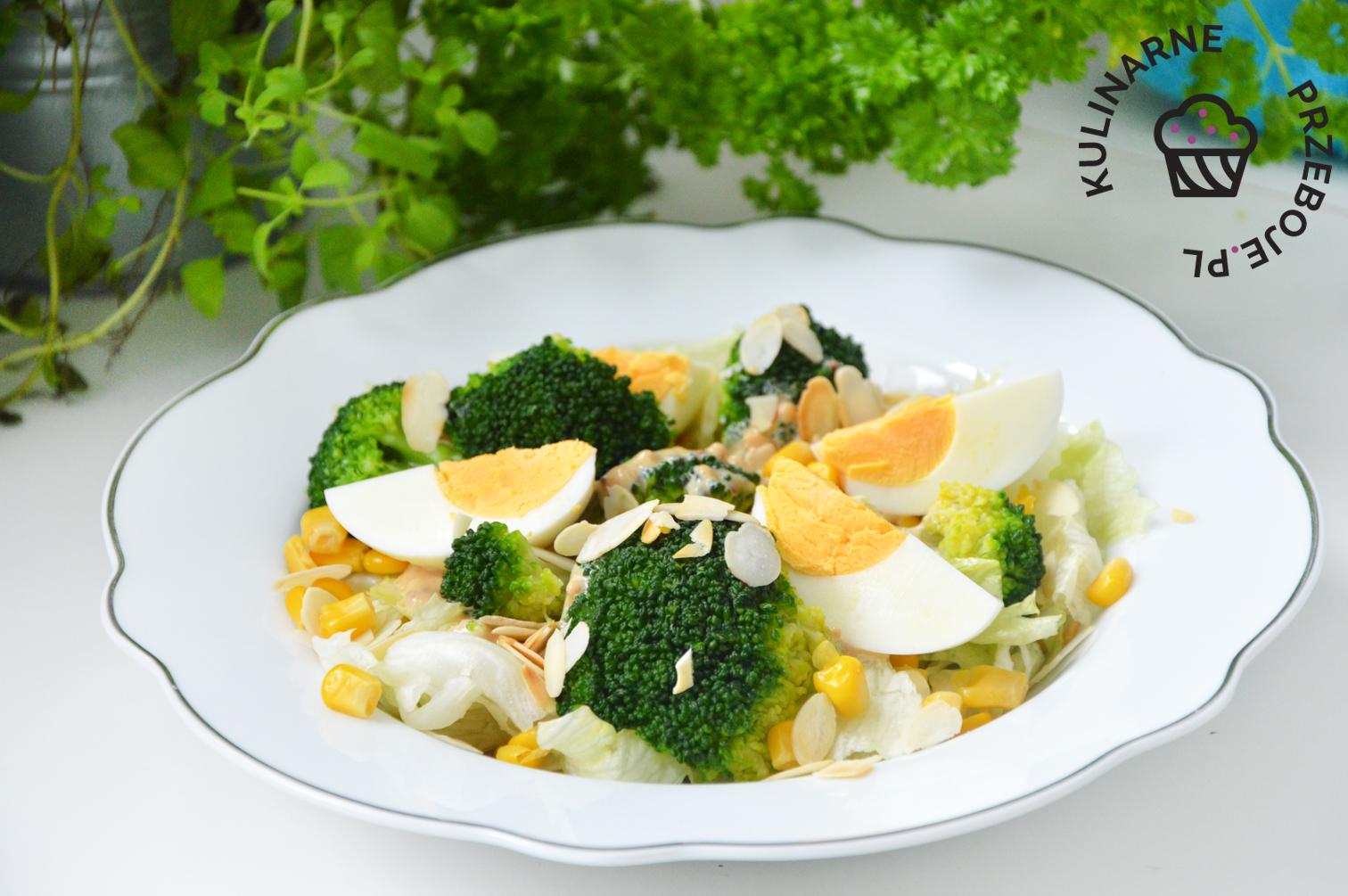 sałatka z brokuła i jajek
