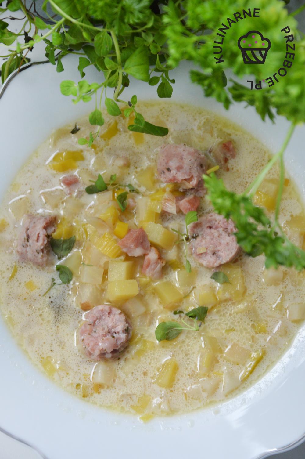 zupa chrzanowa z biała kiełbasa