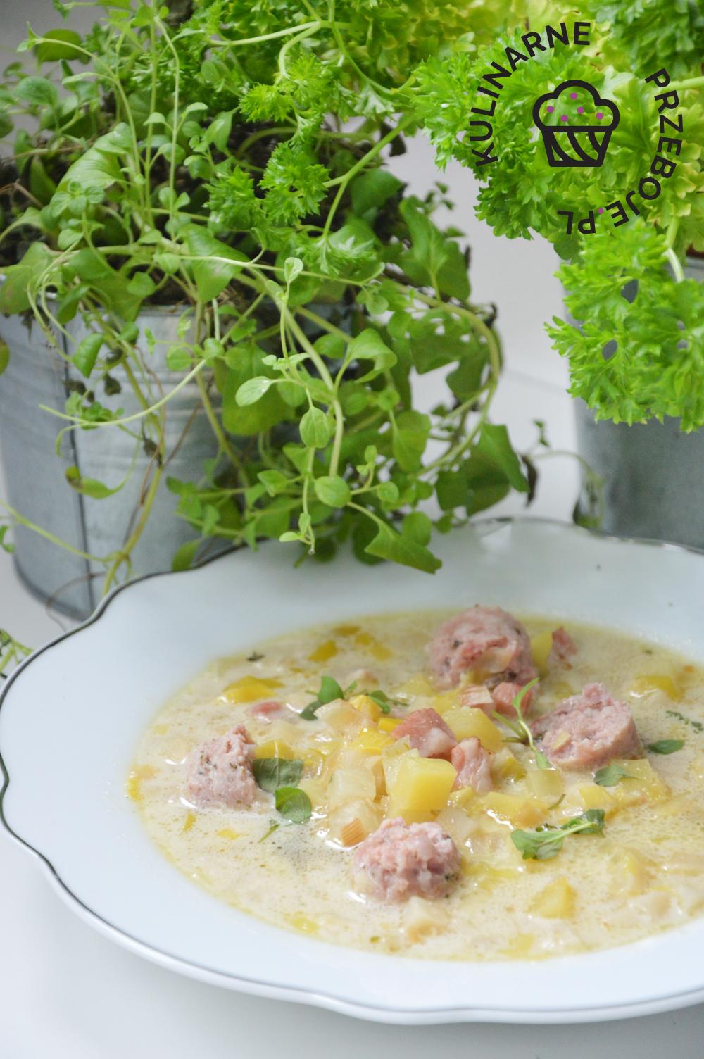zupa chrzanowa z boczkiem