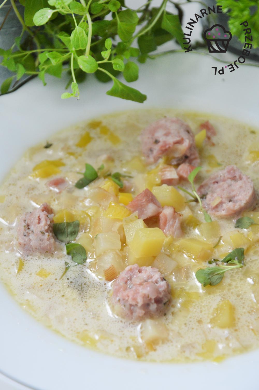zupa chrzanowa z ziemniakami